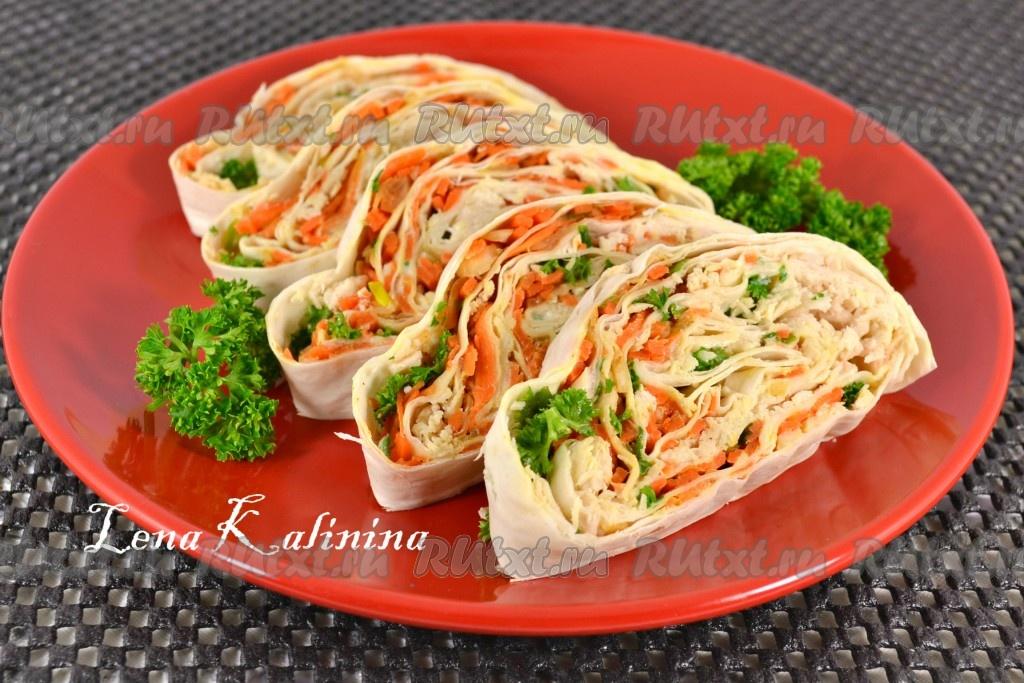 шаурма рецепт с курицей и корейской морковью