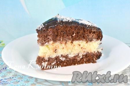 """Торт """"Баунти"""", приготовленный в домашних условиях по этому рецепту, получается необычайно вкусным, нежным и ароматным. Советую настоятельно, очень вкусно!"""