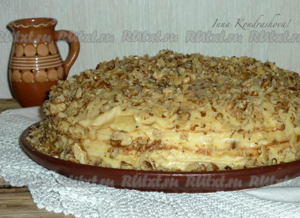Торт на сухой сковороде