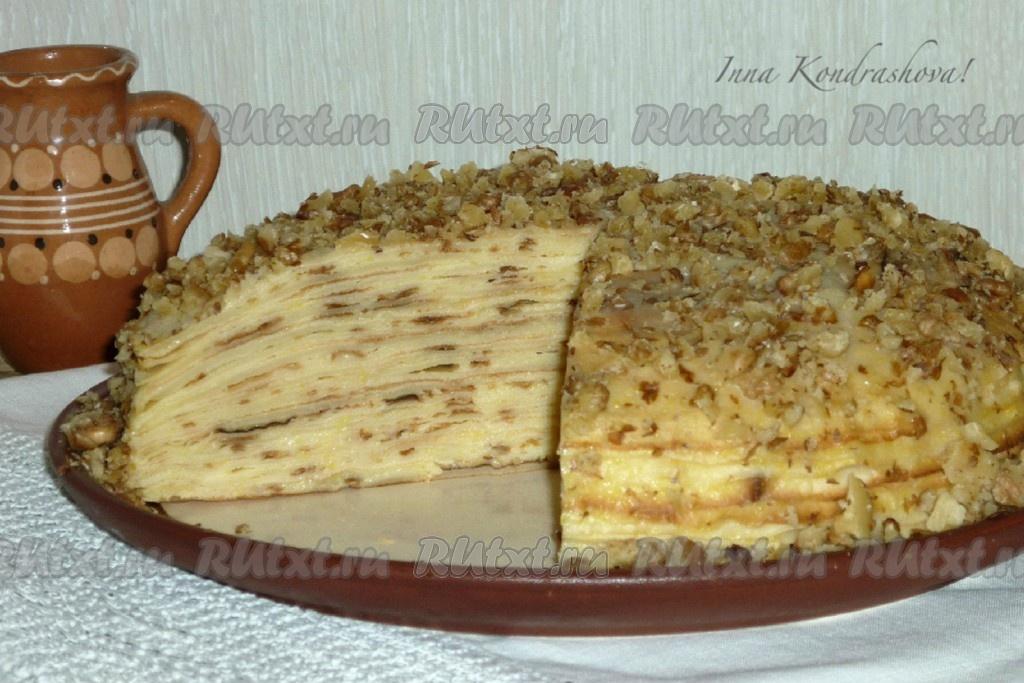блинный торт с заварным кремом рецепт с фото