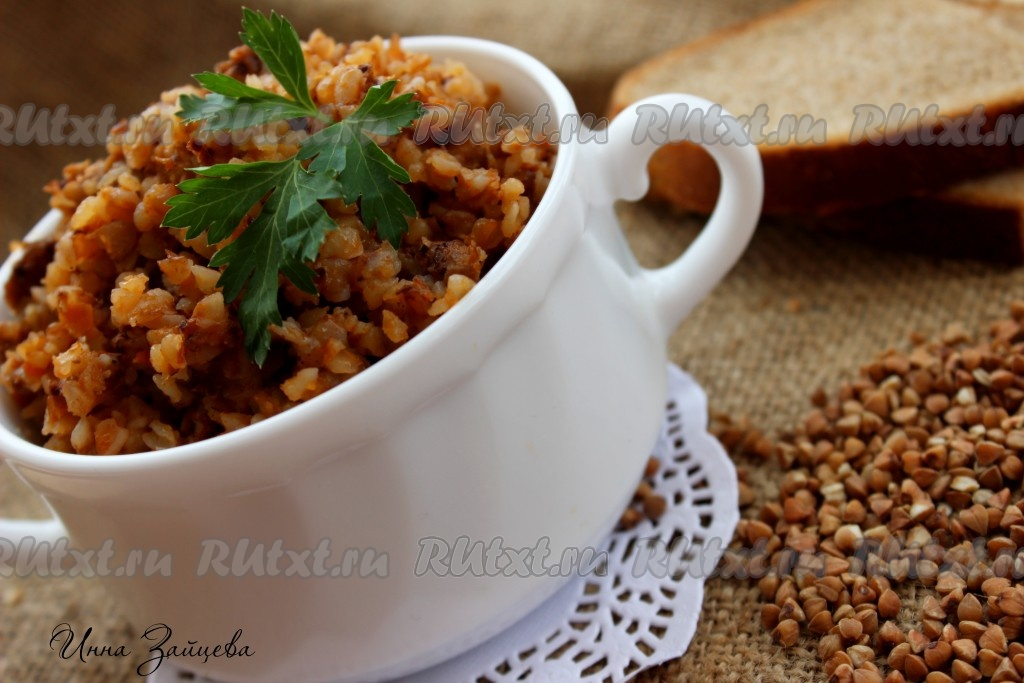 Рецепт гречка с фаршем на сковороде рецепт пошаговый 119