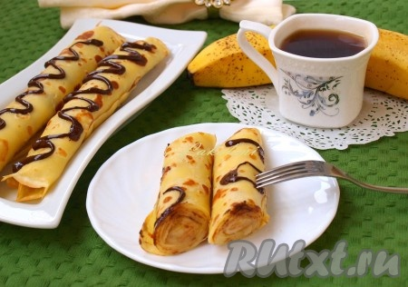 блины фаршированные бананами рецепт