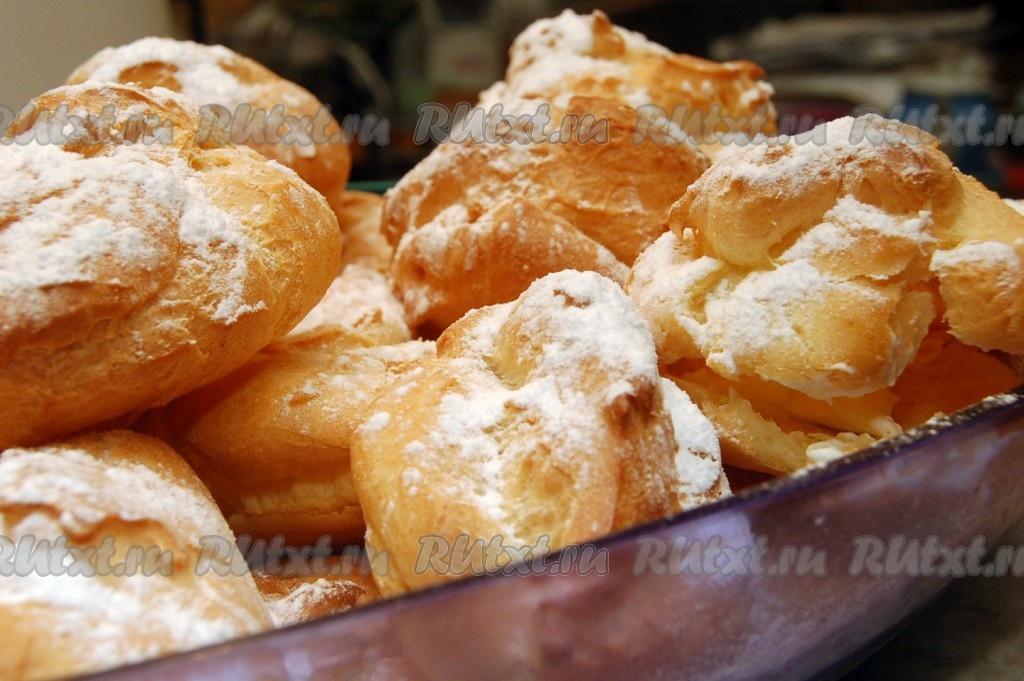 рецепт заварных пирожных со взбитыми сливками