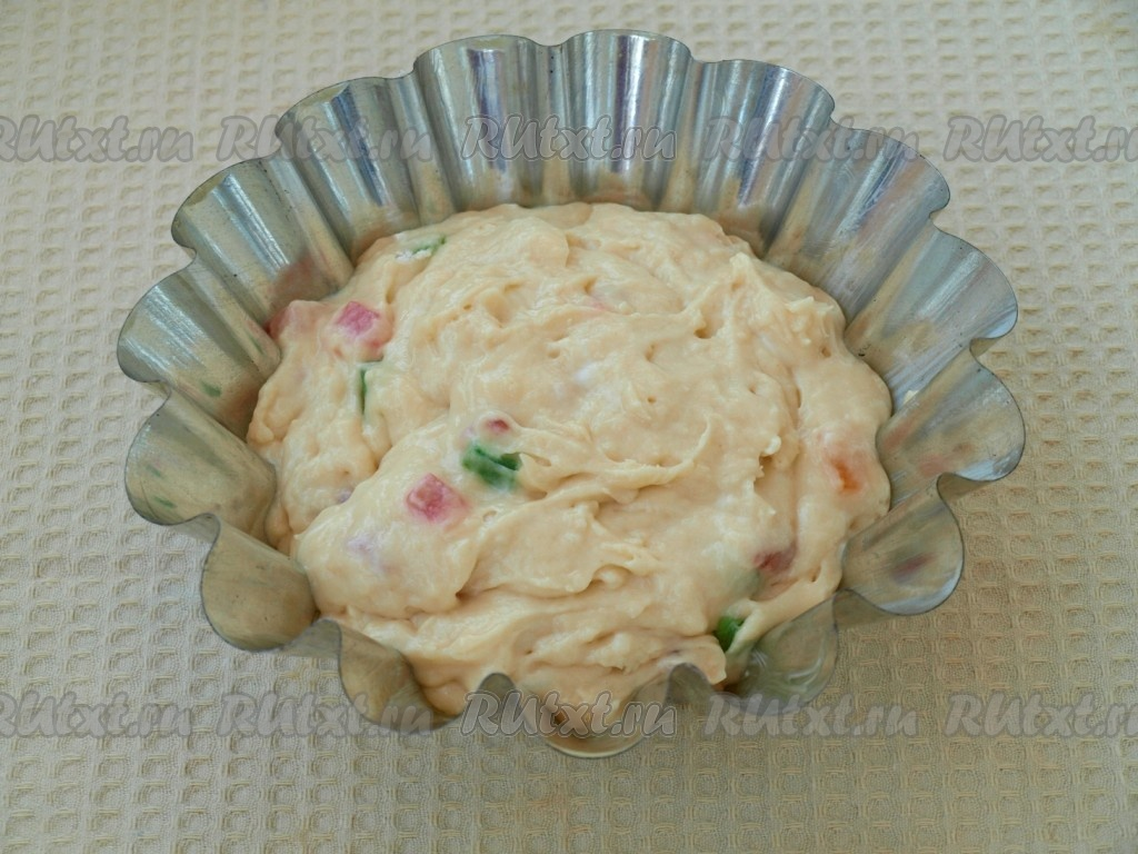 Кекс на сметане с цукатами рецепт