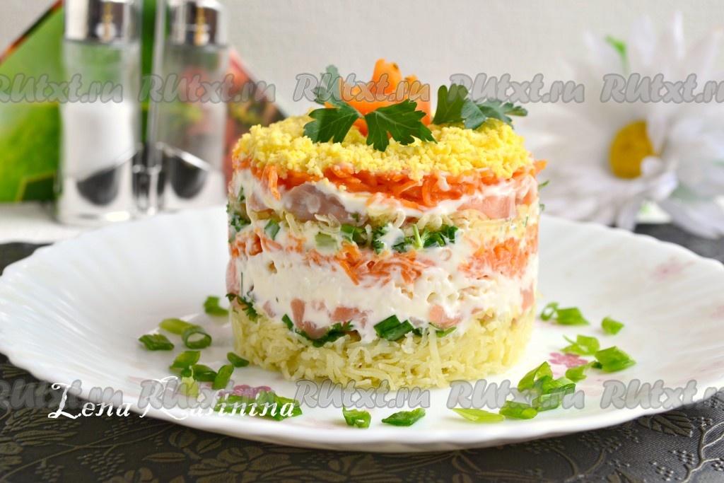 Салат мимоза с семги
