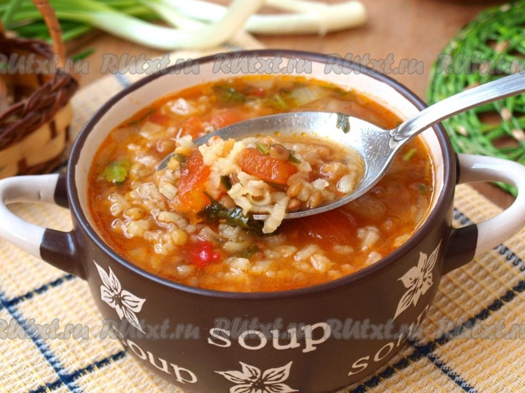 и чечевицей рецепт с фото рисом Суп с