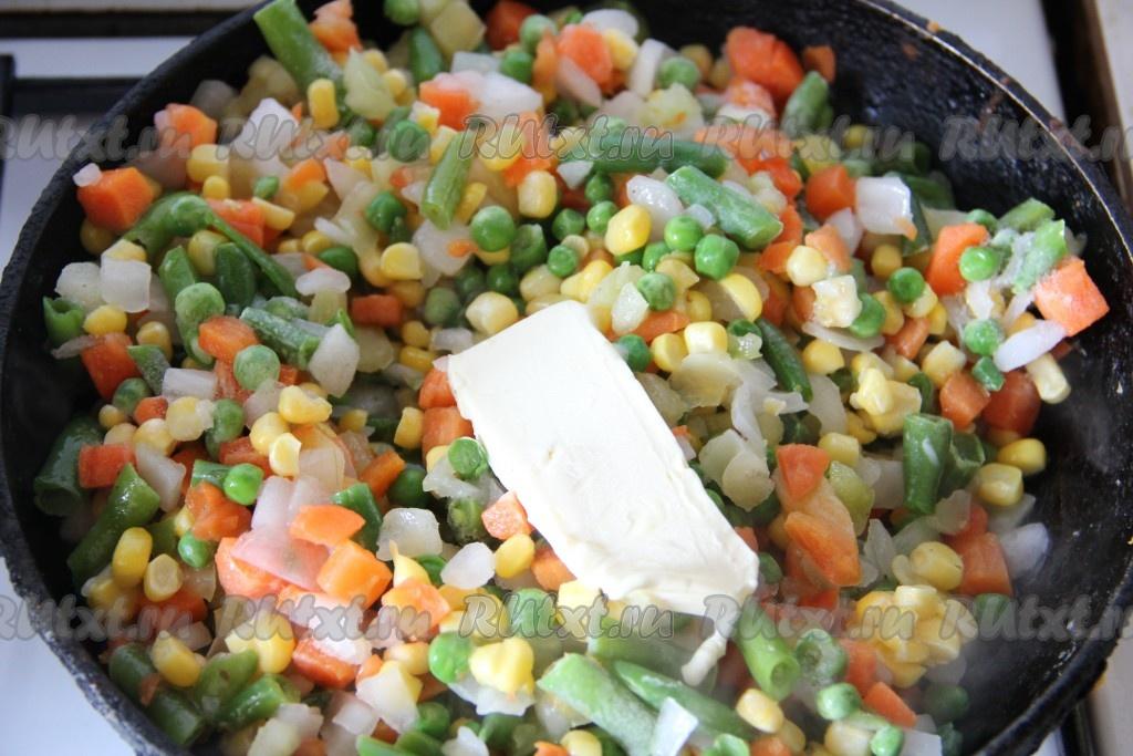 Рецепт риса с замороженными овощами
