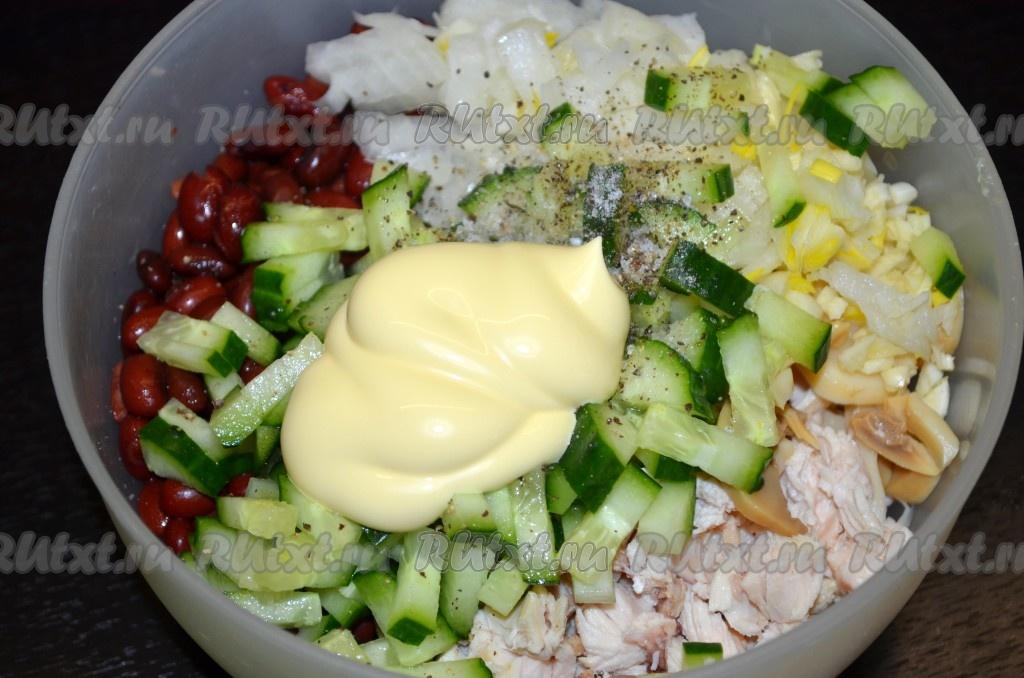 салат миланский с курицей рецепт