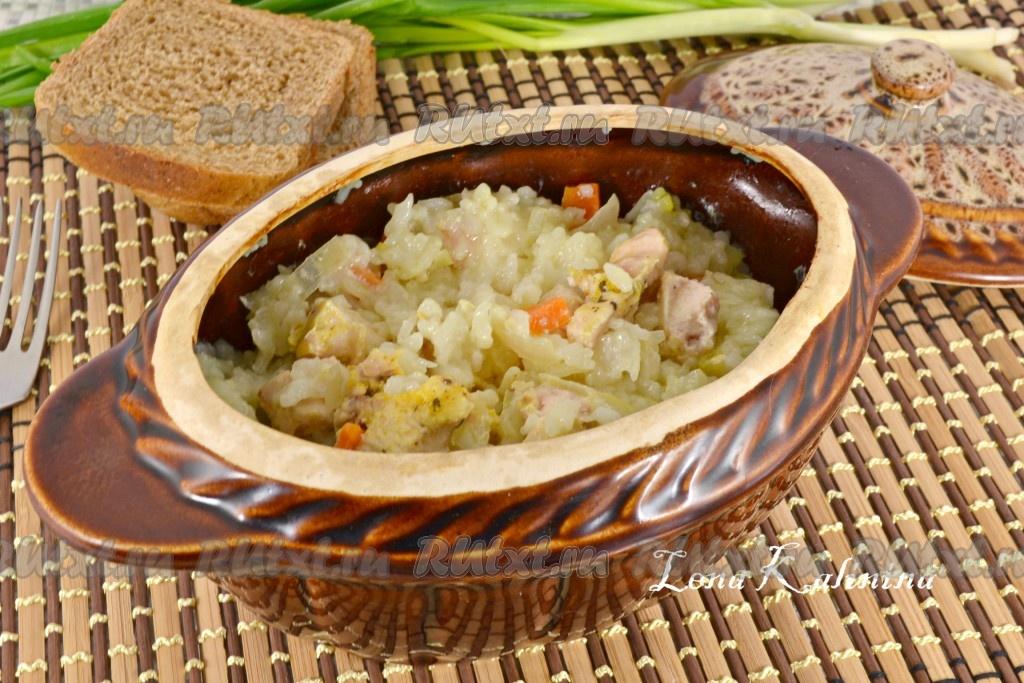 рецепт филе курицы с рисом в духовке с фото