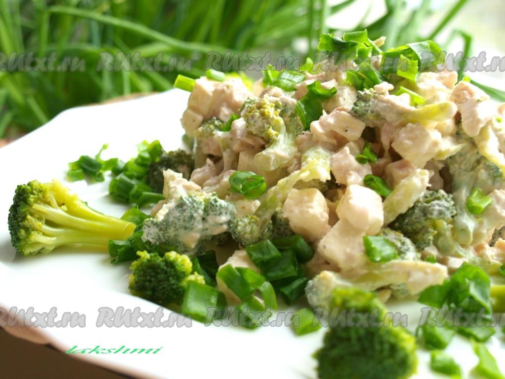 салат с курицей и капустой брокколи