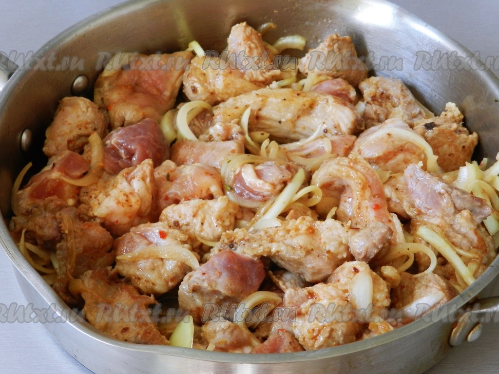 Жареная свинина на сковороде  пошаговый рецепт с фото на