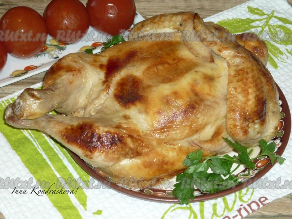 курица запеченная с блинами рецепт