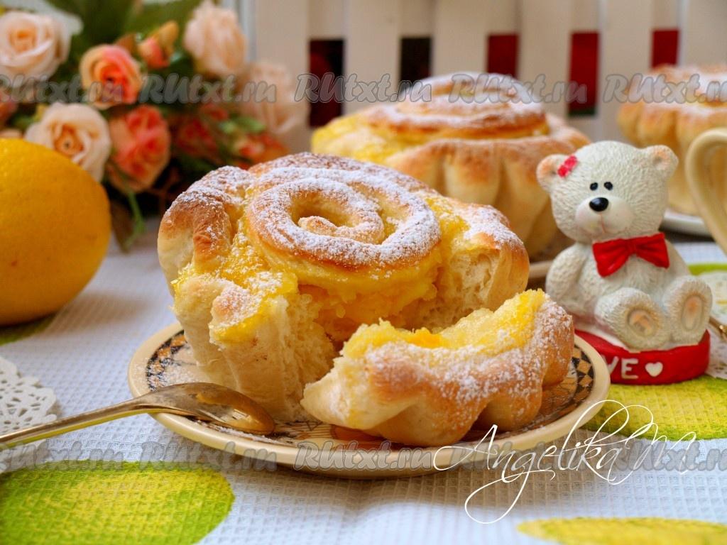 сдобные булочки с лимоном