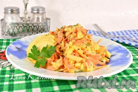 простые рецепты салатов с картинками