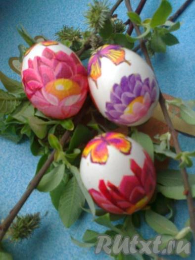 Наши нарядные пасхальные яйца готовы!!!