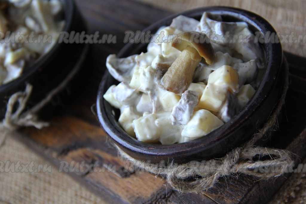 Салат из сердца и шампиньонов рецепт 64
