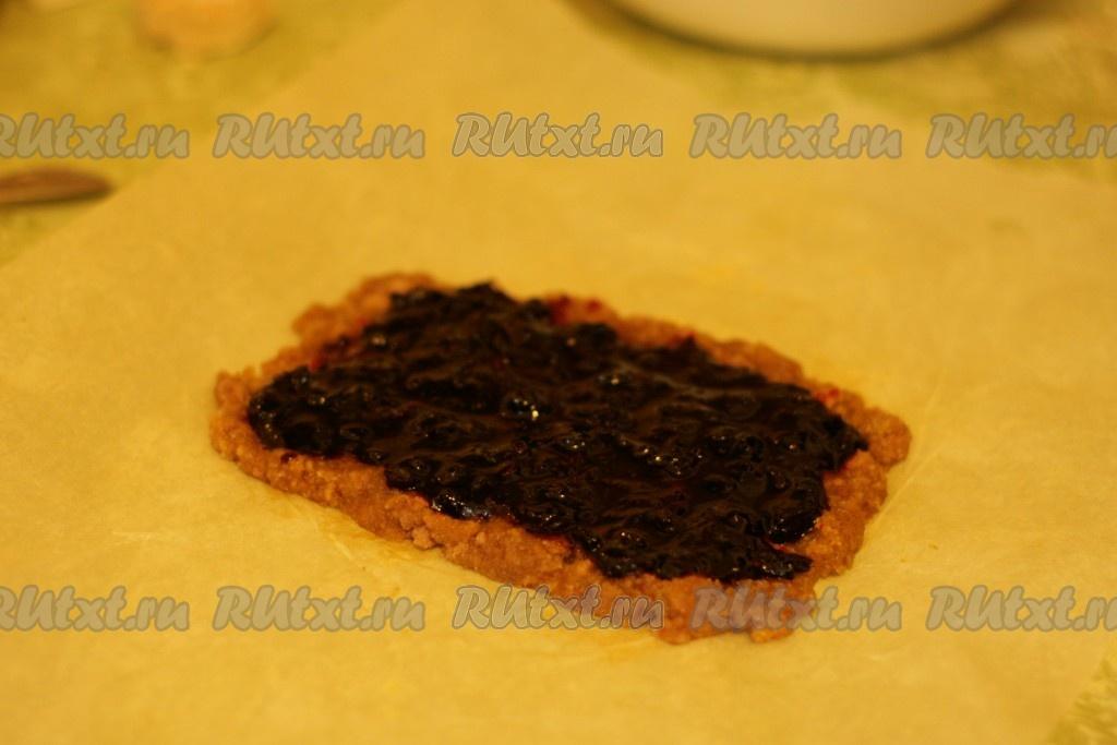 Рецепт печенье с вареньем и сверху тертым тестом
