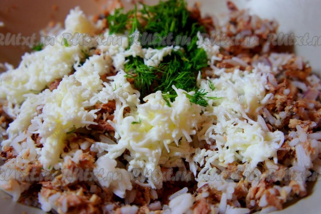 Рецепт салата из консервы сайра
