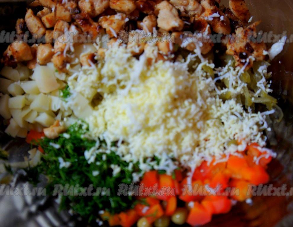 салат оливье с грудкой рецепт с фото